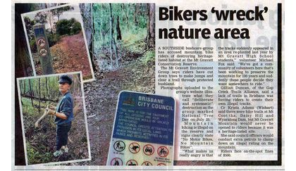 Bikers 'wreck' nature area - Southern Star – 01 August 2012