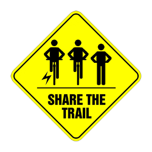 Share The Trails sign