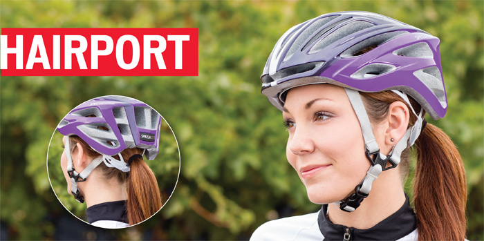 Specialized Aspire Women's cycling helmet with ponytail hair port