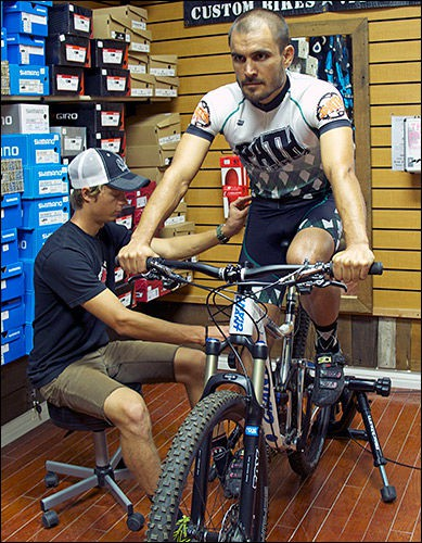 Bike fit service at The Path Bike Shop