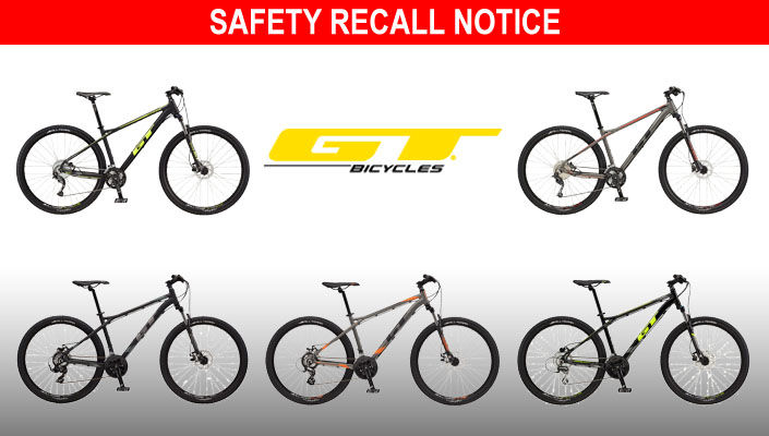 GT mountain bike are being recalled due to potentially hazardous handlebars.