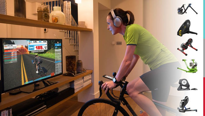 Zwift indoor cycling and compatible turbo trainers