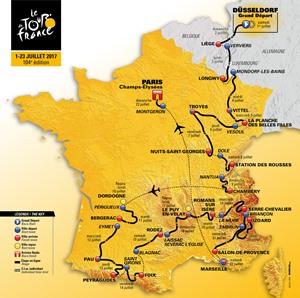 Tour de France Route Map - 2017