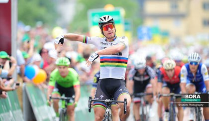 Peter Sagan's 'Aloha' celebration from stage 5 Tour de Suisse 2017