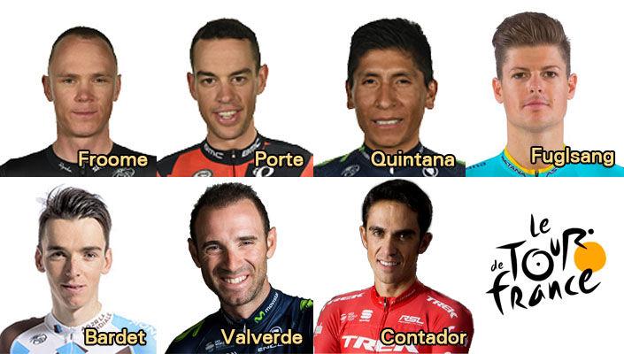 Contenders of the Tour de France 2017