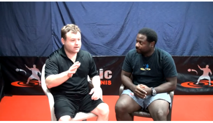 Brian Pace interviews Frank Caliendo and plays some table tennis.