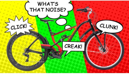 Clunk! Grind! Creak! Why is my bike making a noise?
