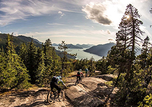 Steep, beautiful trail in Squamish, BC
