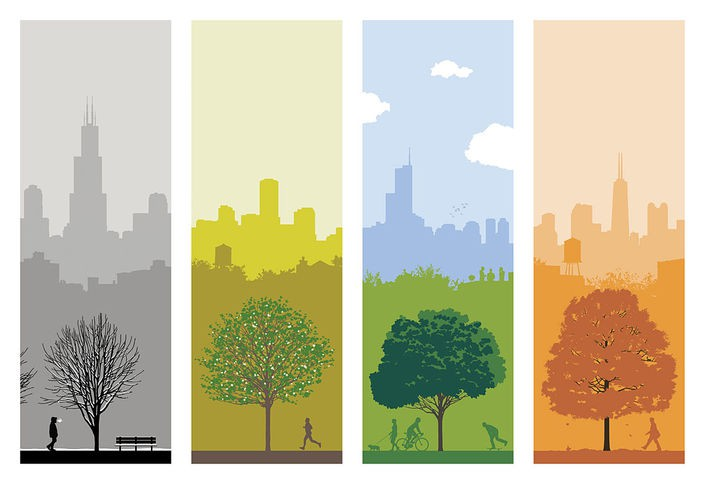 '4 SEASONS CHICAGO' - a print by Ryan Kapp