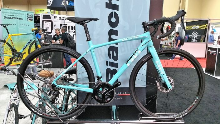 Bianchi Impulso all road gravel bike - celeste
