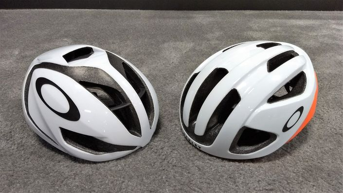 Oakley ARO5 (left) and ARO3 helmets - front