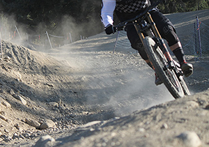Brake ruts are ineveitable at any bike park