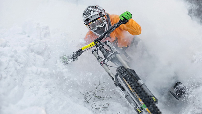 Winter riding can be fun, yet tough on your bike's suspension.