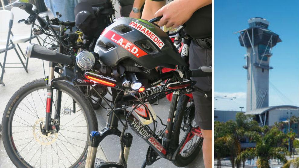 Bike medics speed to help at airport