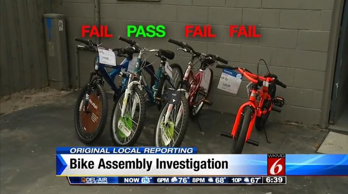 Big box store bought bikes fail basic safety checks