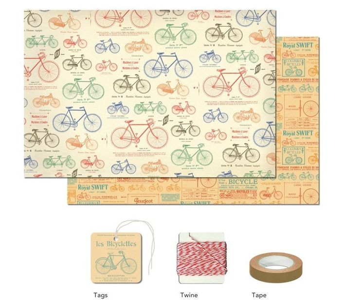 Vintage Bicycles Wrap Pack by Cavallini and Co.