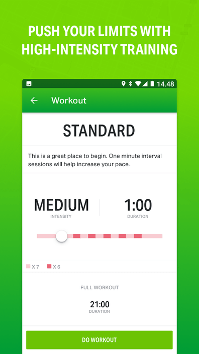 Setup a workout with real-time coaching - Endomondo
