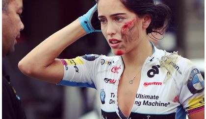 Shoshauna Routley crashed out of Tour de Delta White Spot Road Race