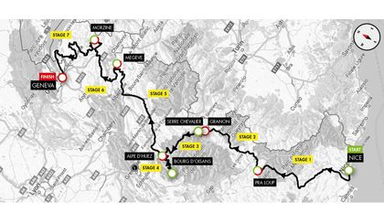 Course map for Haute Route Alps