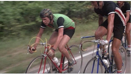 Leather 'hairnet' helmet as seen in the movie 'Breaking Away'