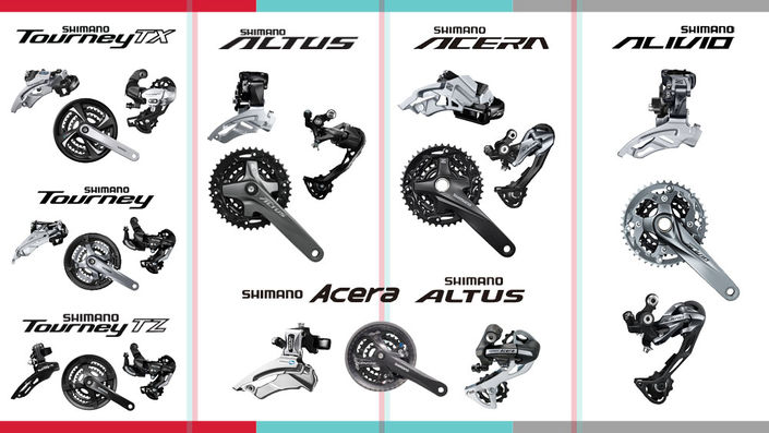 Differences between Shimano's low-end groups: Tourney, Altus, Acera, and Alivio