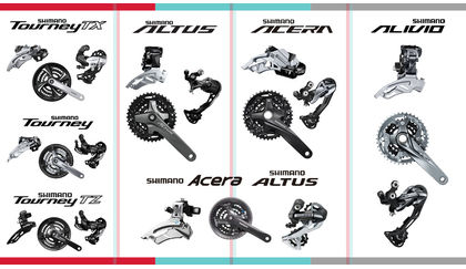 Differences between Shimano Tourney, Altus, Acera, and Alivio components