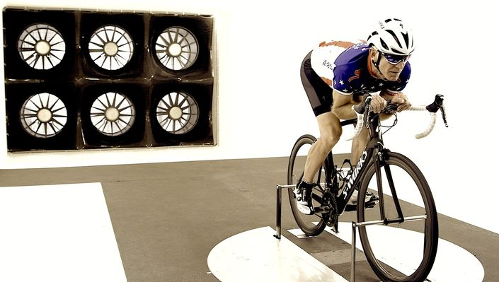 Specialized wind tunnel testing cycling positions