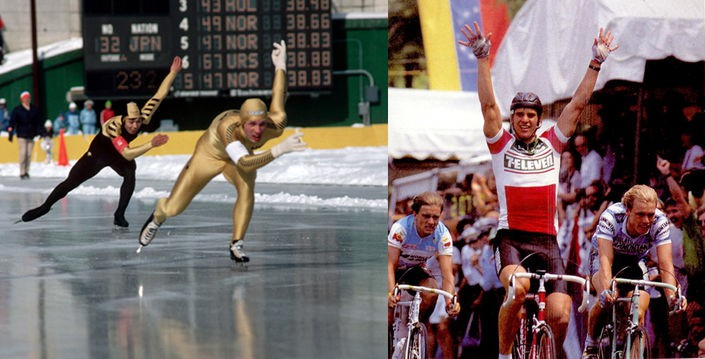 Eric Heiden - speed skater and cyclist