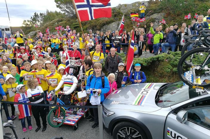 Sagan fans mass at 2017 World Championships in Bergen