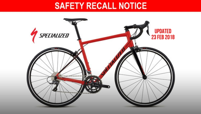 Specialized recalling 2018 Allez bikes due to fork defect