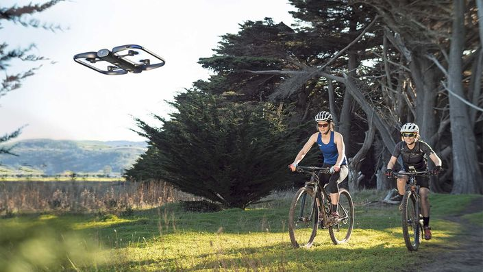 Skydio R1 self-flying action camera for cyclists