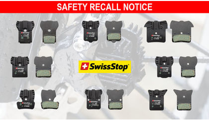 SwissStop Disc Brake Pads Recalled