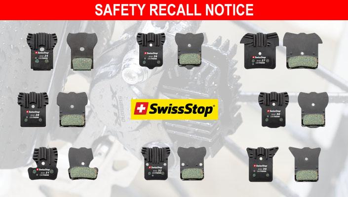 SwissStop recalling EXOTherm disc brake pads
