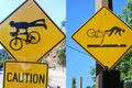 What do bicycling signs mean