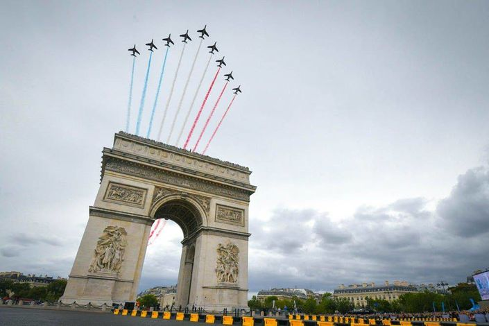 l'Arc de Triomphe at Champs-Elysées - Paris France - Tour de France 2017