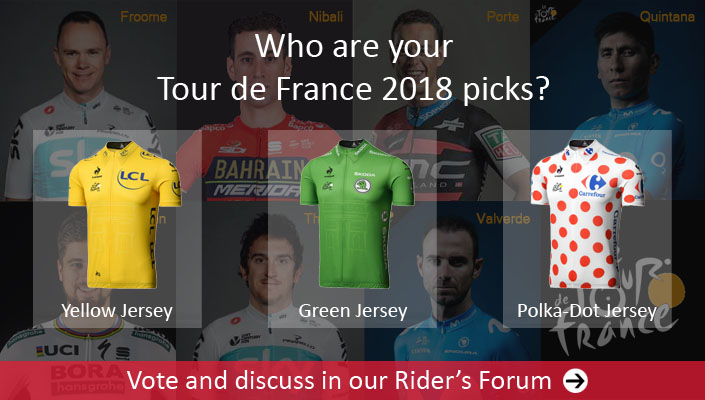 Who are your Tour de France 2018 picks? Vote and discuss in the Rider's Forum