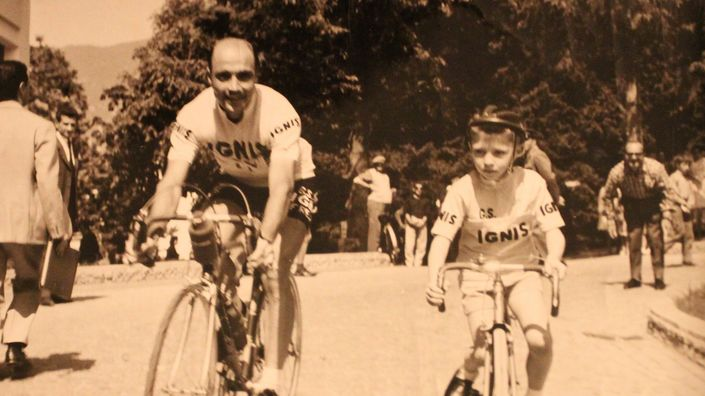 Father's Day Australia Gift Guide - Miguel Poblet (ESP) at Giro d'Italia 1960 in Saint Vincent (Italy)