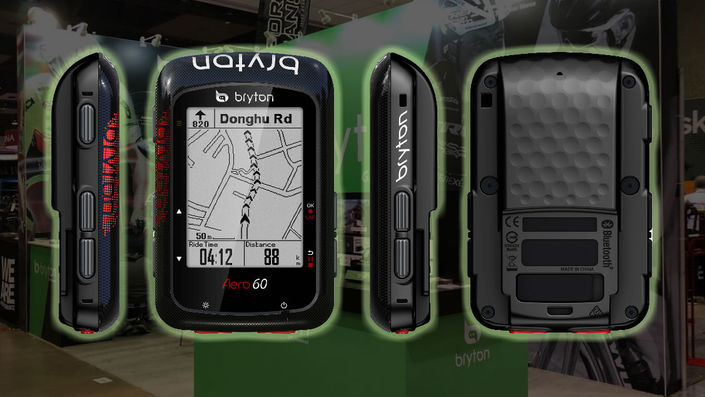 Bryton Aero 60 GPS cycling computer with FAZUA Evation drivetrain system
