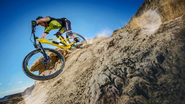 How to: mountain bike braking. photo: Merida