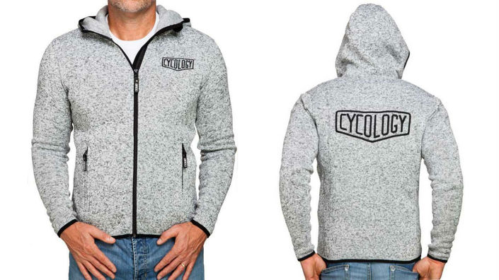 Cycology Men's Grey Knitted Hoodie