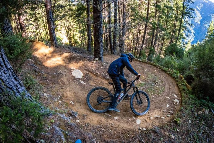 Keeping grip is vital to clearing off-camber trail
