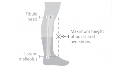 UCI 2019 Sock Height Specification Diagram
