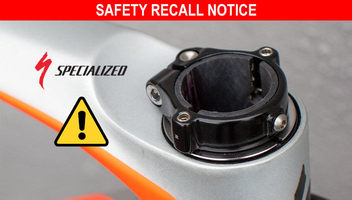 Specialized bikes recalled for steerer tube collar danger