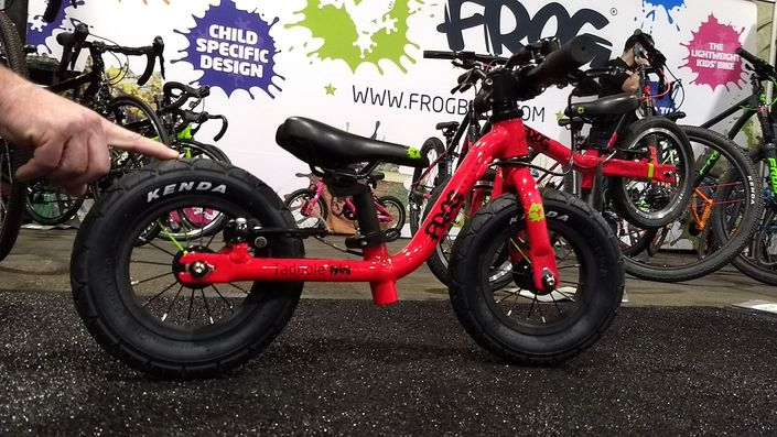 Tadpole Mini balance bike by Frog Bikes