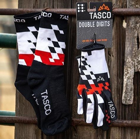TASCO MTB Double Digits Gloves and Socks Combo.  Photo by @_gabekeating_
