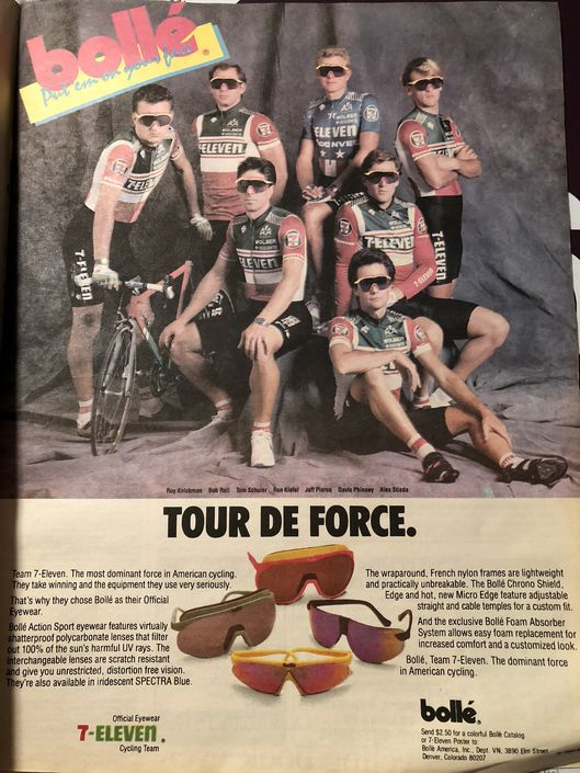 7-Eleven Cycling Team and Bolle - Tour de Force