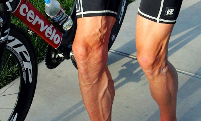 Cycling shaved legs