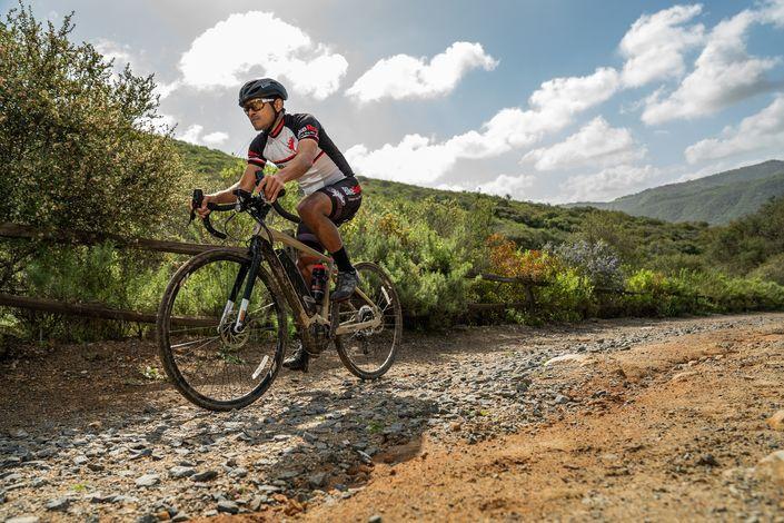 LEM Volata Road Bike Helmet - on gravel