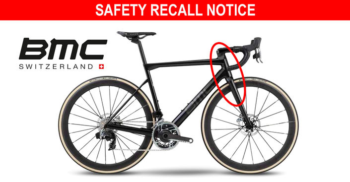 BMC Teammachine SLR01 Disc bicycles and framesets are being recalled due to breakage concerns
