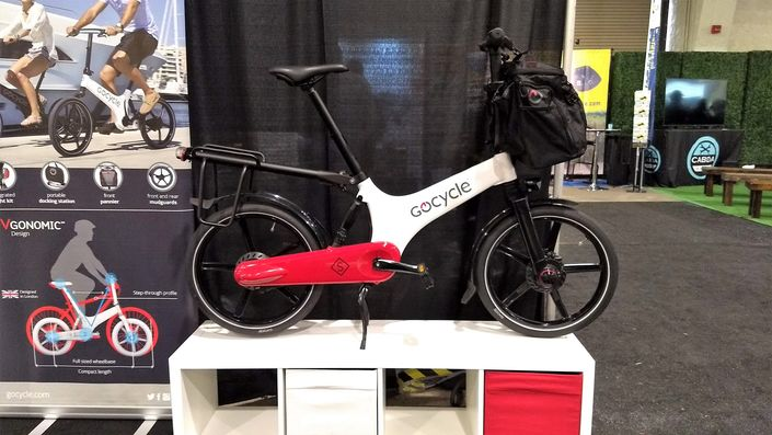 GoCycle S Folding E-Bike Loaded